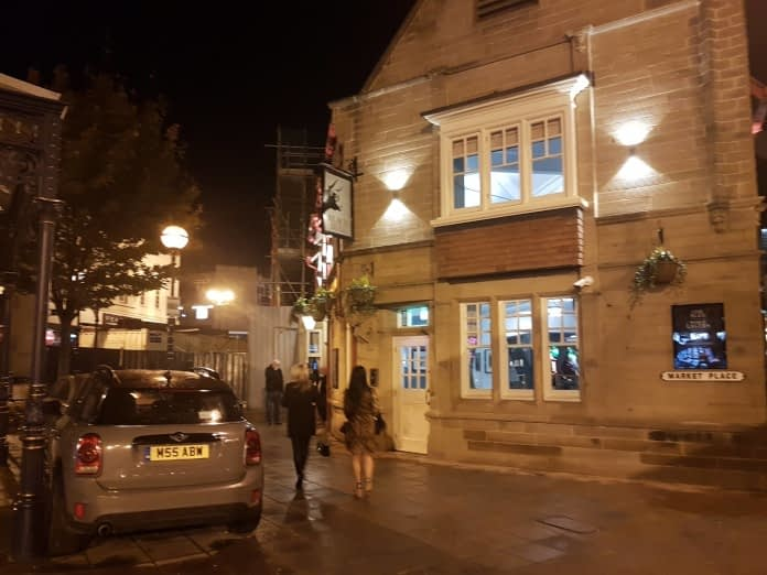 photo of opening night for the Black Bull pub in Dewsbury