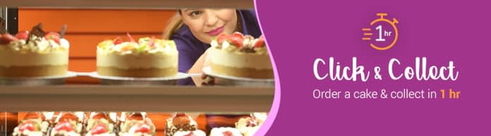 promo for Click and collect your cake at Cake Box Dewsbury