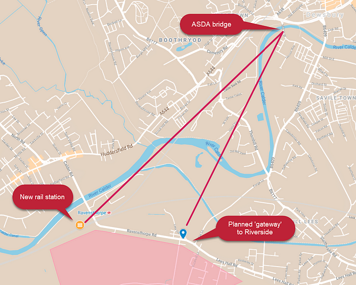 maps showing direct straight line routes