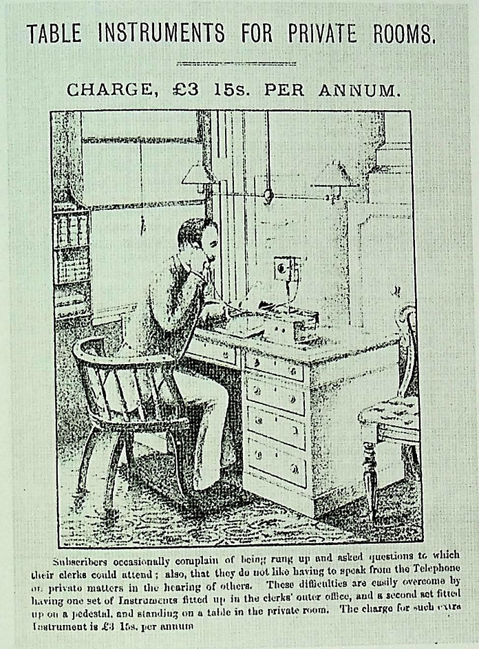 image of advert for private telephone