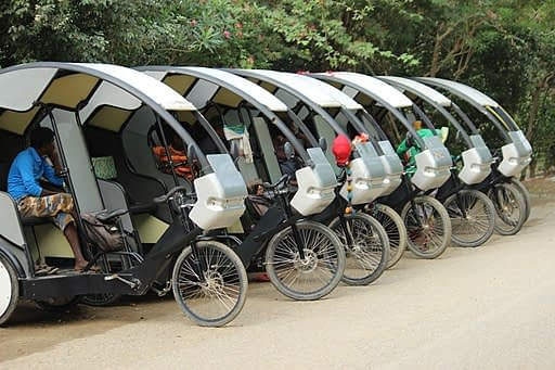 photo of electric trishaws