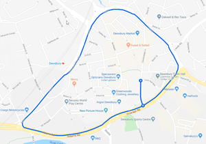 maps of the Dewsbury ring road