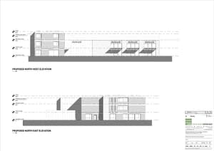 architects drawing of elevations for conversion of old fire station in Huddersfield Road, Dewsbury