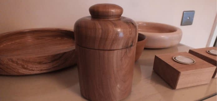 photo of items produced by wood turning