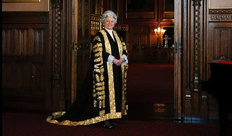 photo of Betty Boothroyd, brought up in Dewsbury