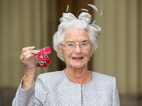 Eileen Fenton with her MBE