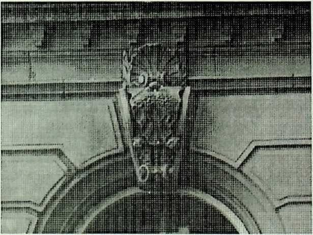 photo of ram carving in Bond Street