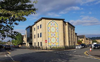 photo of the Zakaria Education Centre, Dewsbury with the islamic art by Eric Broug