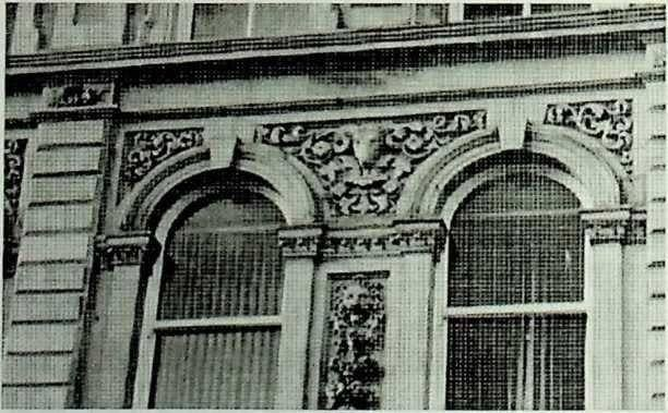 photo of ram carving on HBBC building, Dewsbury