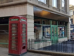photo of The old BT phone box beside the Gas Showrooms, Dewsbury
