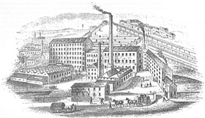 image of Victorian mills in Dewsbury