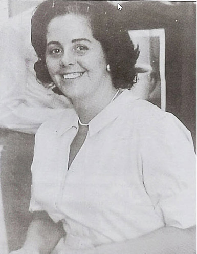 photo of Betty Boothrogd when working on the JFK presidential campaign