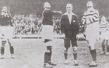 photo of the coin toss at Wembly